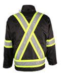 Hot Sale Black PVC Oxfprd impermeável à prova de vento casaco exterior