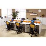 Estação de trabalho moderna do escritório da melamina do espaço aberto (SZ-WS157)