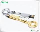 Elegante Metal USB Pendrive Com Logotipo Personalizado (WY-M07)