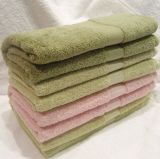 100$ Serviette de bain jacquard coton pour l'hôtel