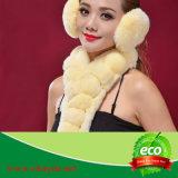 Sciarpa della pelliccia del coniglio di Rex di modo della via di alta qualità per le donne