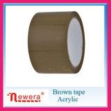 Einseitige anhaftende Seite und Abendessen-klebriges Band Brown-Tan