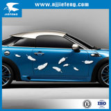 De witte Overdrukplaatjes van de Sticker van pvc voor Elektrische de Auto van de Motorfiets