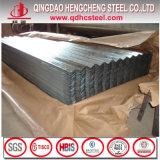 Hoja de acero acanalada revestida del material para techos del cinc