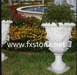 Reiner weißer Garten-Blumen-Potenziometer (BJ-FEIXIANG-0053)