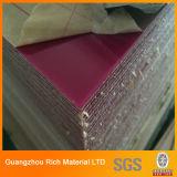 Folha acrílica de plástico de alta cor brilhante para impressão de seda