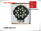 "faro dell'indicatore luminoso LED del lavoro di 7 "" 51W LED per la jeep SUV"