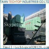 Le charbon industriel a allumé la chaudière à vapeur, chaudière allumée par bois, chaudière à vapeur industrielle !