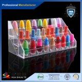 Étalage acrylique de vernis à ongles d'huile essentielle acrylique au détail de stand/support acrylique de rouge à lievres