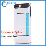 Cassa del telefono con la fessura per carta per iPhone7/7plus