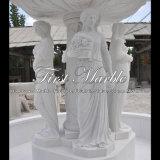 White Carrara Stone Sculpture Fountain for Gift Mf-293