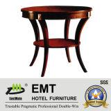 Table basse en bois de luxe en bois doré (EMT-CT06)