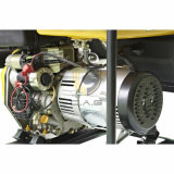 einphasiger beweglicher Dieselgenerator Wechselstrom-6.5kw/6.5kVA/7500 mit Deckel und Griff