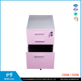 China fabricante de mobiliário de escritório para equipamento travando 3 Gavetas Fichários de Metal