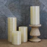 A vela escovada marfim do diodo emissor de luz da parte superior lisa de Luminara ilumina 3inch