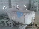 Bañera de piedra de mármol tallada
