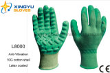 Anti-Vibration Cotton Shell с Latex Coated Safety Work Glove (L8000)