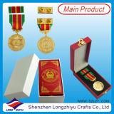 Dubai ОАЭ полицейских и военных медаль с кожи в салоне, Золотой медалью Армии значок ленты с контактом в форме бабочки (lzy-201300296)