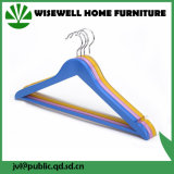 Gancho de roupa de madeira do cromo para o revestimento (WHG-A02)