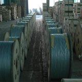 광섬유 접지선을%s 나무로 되는 드럼에서 것과 같이 알루미늄 입히는 철강선