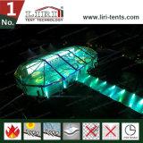 Disegno trasparente personalizzato della tenda con la parte superiore libera per approvvigionamento