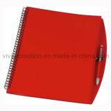 Caderno espiral da tampa de A4 PP com a pena para a venda por atacado (PPN221)