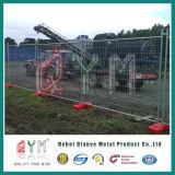 Cerca provisória revestida do PVC Canadá da cerca provisória da segurança da alta qualidade