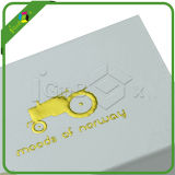 White Small Gift Packaging Boxes com logotipo gravado