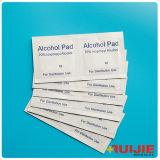 Uso médico estériles de gasa con alcohol isopropílico al 70%