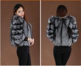2014 пальто шерсти Fox теплых женщин зимы Средств-Длинних неподдельных