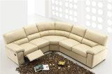 Sofa de Recliner de cuir véritable (613)