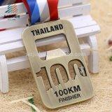 Supporti su ordinazione del nastro delle medaglie del metallo del premio di funzionamento di sport di Bling