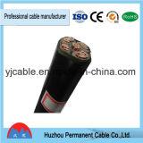 Yjv Yjlv 0.6/1кв 3-Core XLPE изоляцией ПВХ оболочку кабеля питания