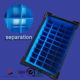 정전기 방지 플라스틱은 전자공학 부속 궤를 위한 물결 모양 상자 정전기 방지 물결 모양 플라스틱 연장통을 취급한다
