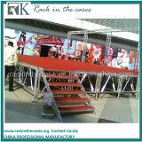 DJの段階のための赤いプラットホームが付いているRkの卸し売り携帯用アルミニウム段階