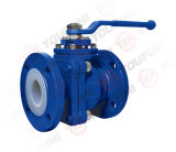PFA Lined Ball Valve voor Chemical