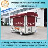 Jiejing는 이동할 수 있는 음식 또는 체더링 장비를 가진 트레일러를 짐마차로 나른