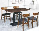 Set de mesa de jantar de restaurante de madeira maciça de 4 lugares e assentos (FOH-BCA08)
