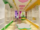 고품질 아이들 단화 상점 가구를 위한 목제 아이 단화 선반