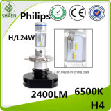 faro dell'automobile di 2400lm Philips H4 LED