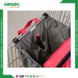 Supermarkt-Polyester-Einkaufen-Laufkatze-Beutel-Einkaufswagen-Beutel mit kühlerem Beutel