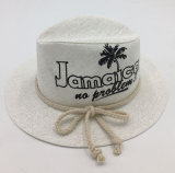 El sombrero de paja de papel imprimió el sombrero con la cuerda asociada (Sh020)