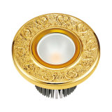 Lampada solida dell'hotel dell'ottone LED con colore dell'oro 24k