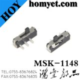 China Factory High Quality Slide Switch com 3pin DIP Type (msk-1148)