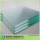 Tempered smussato Clear Float Glass per Home Appliance
