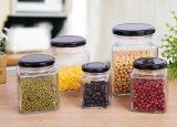 Machine faite pot du verre avec clip métallique / VERRE Pot de rangement, conteneur de stockage des aliments