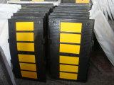 Gobba di gomma di velocità del nero del rivestimento giallo