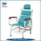 Chaise de transfusion en cuir PVC en acier inoxydable pour hôpitaux