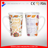 Commerce de gros V forme personnalisable tasse à café en céramique colorée