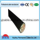 Câble de PVC de la SWA d'Amoured Cable/XLPE de fil d'acier d'isolation de HT Yjv de tension